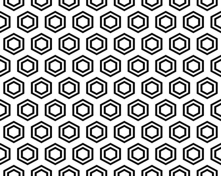Seamless hexagon pattern background, creative design templates