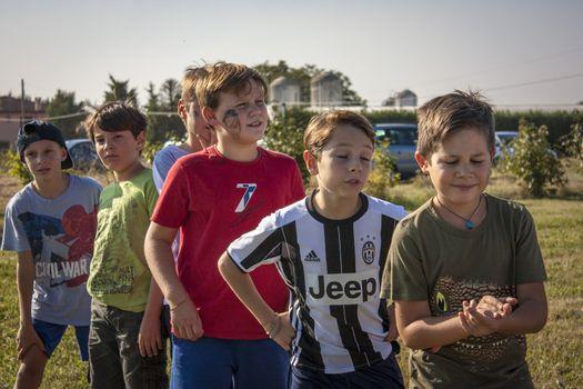 Children play outdoors 17