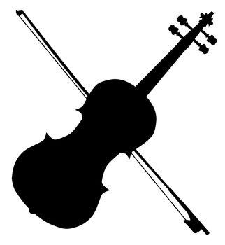 Fiddle Silhouette