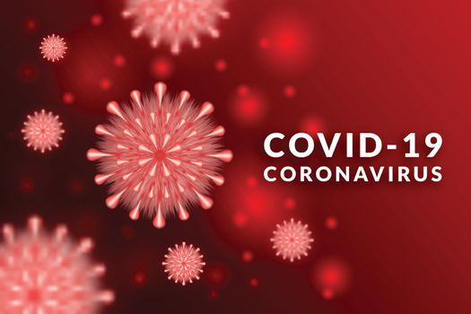 Graphic design of corona or covid-19 virus background - Microbiology And Virology Concept.