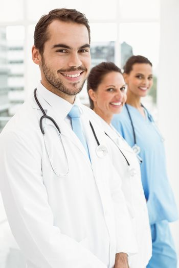 Smiling doctors at medical office