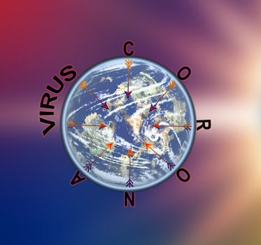 the corona covid 19 virus spreading over the world