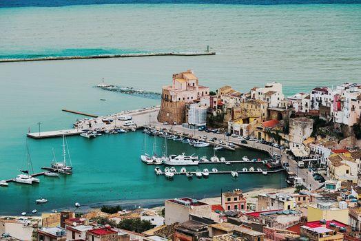 Mediterranean marina on coast of Sicily