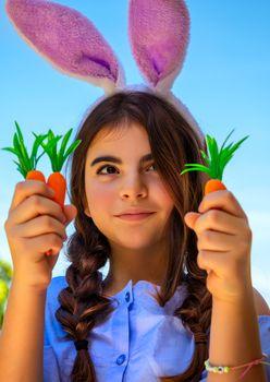 Beautiful Easter bunny girl