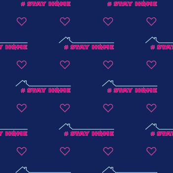 seamless pattern Stay at home - self isolation to prevent spreading coronavirus. COVID-19