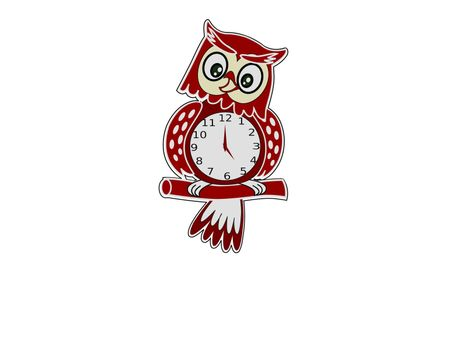 very nice clock on white background - 3d rendering