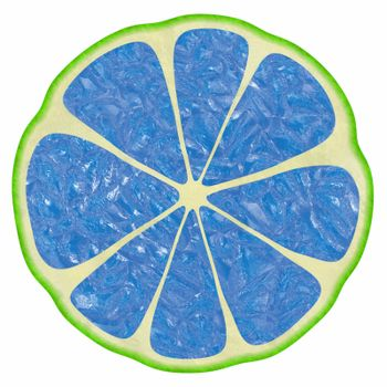 The image of illustrations of different color versions of citron fruit.