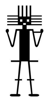 Nazca Peru atacama giant ancient geoglyph symbol illustration