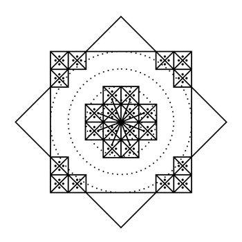 Nazca Peru mandala ancient geoglyph symbol illustration