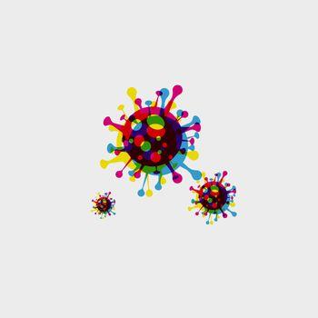 vector illustration Coronavirus COVID-19 . Virus bacteria Virus Covid 19-NCP 10 eps
