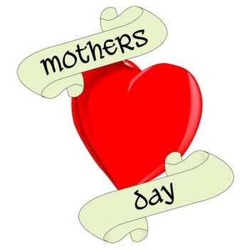 A tattoo style image of a mothers day heart
