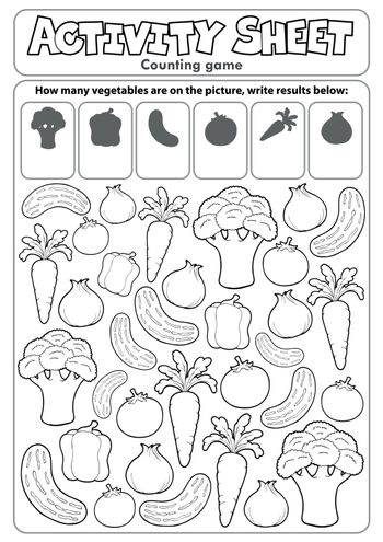 Activity sheet counting game 5 - eps10 vector illustration.