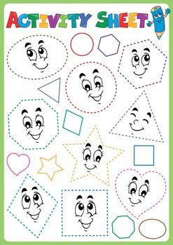 Activity sheet topic image 3 - eps10 vector illustration.