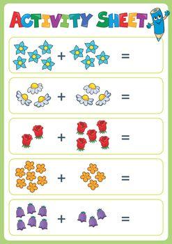 Activity sheet topic image 4 - eps10 vector illustration.