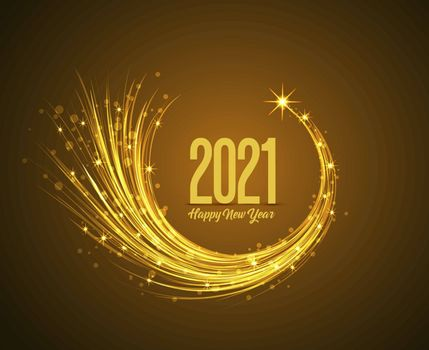 Happy New Year 2021, vector illustration Christmas background