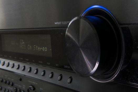 Close up of Hifi Amplifier