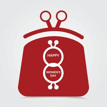 8 March, International women's day greeting card