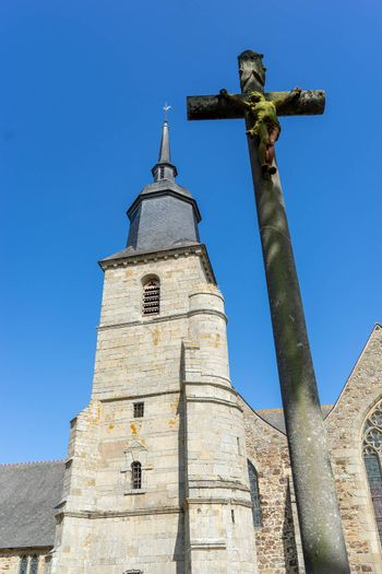 Architecture of historic buildings in Britanny tourism attractions