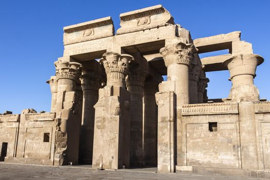 The dual entrance to the Temple of Kom Ombo, Aswan
