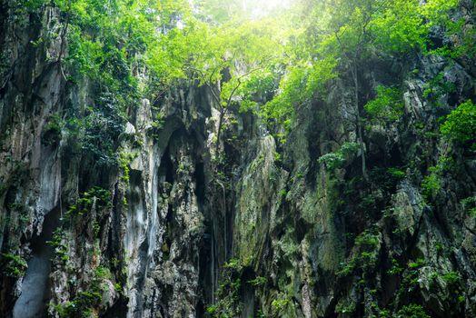 View in the Batu Caves, Kuala Lumpur, Malaysia.