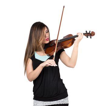 woman play violin