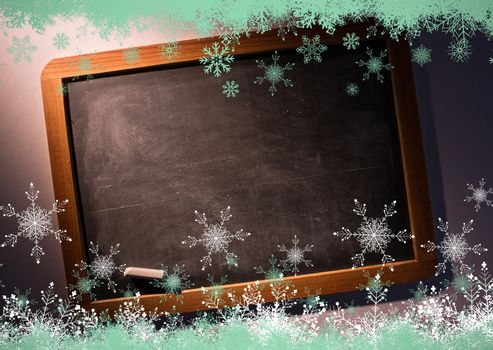 Snow flake frame in green
