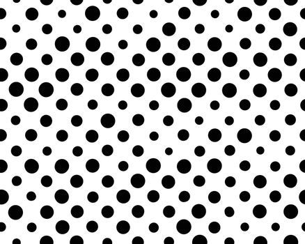 Seamless background with black dots on a white background