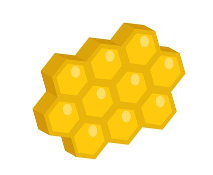 Honeycomb icon, flat style. Isolated on white background. illustration, clip-art.