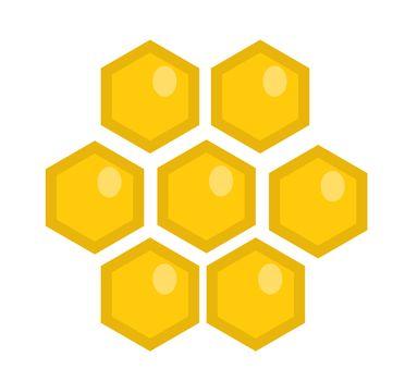 Honey comb icon, flat style. Isolated on white background. illustration, clip-art.