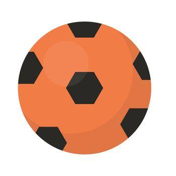 Ball football icon, flat, cartoon style. Isolated on white background. illustration, clip-art.