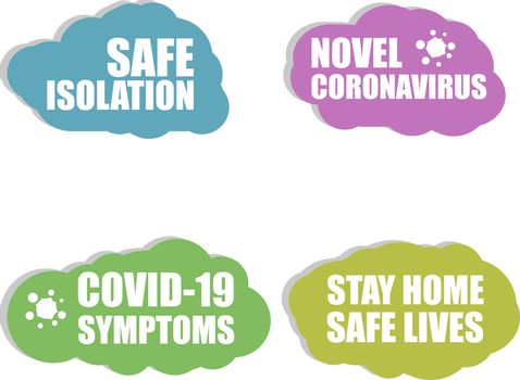 Against Coronavirus icon. Safe Isolation. COVID-19 icon. Novel coronavirus. COVID 19 Symptoms. Coronavirus. Sign isolated on white background