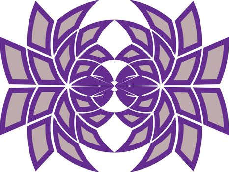 Icon, print or logo template with abstract geometric purple tracery