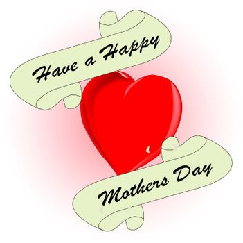 A tattoo style image with a mothers day message.
