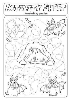 Activity sheet handwriting practise 8 - eps10 vector illustration.