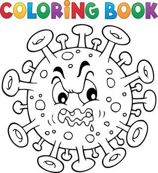 Coloring book virus theme 1 - eps10 vector illustration.