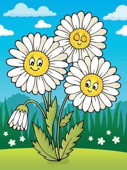 Daisy flower theme image 2 - eps10 vector illustration.