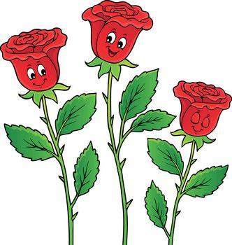 Rose flower theme image 2 - eps10 vector illustration.