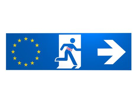 brexit europe logo on white background - 3d rendering