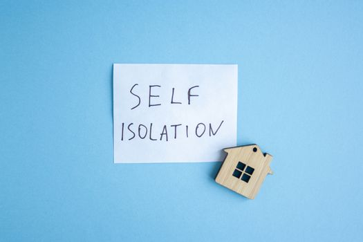 The inscription on a white sheet quote self isolation