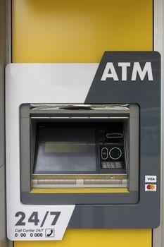 ATM Machine nobody electronic banking cards bank
