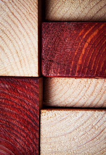 texture sawn timber from two-color wood