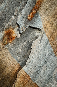 detail crack gray sandstone rock