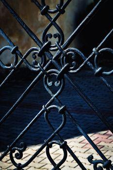 black iron forged gate