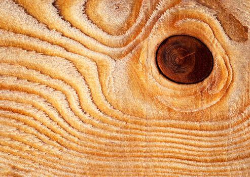 circular knot on wood
