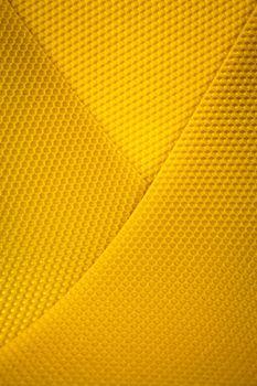 background of yellow wax honeycomb