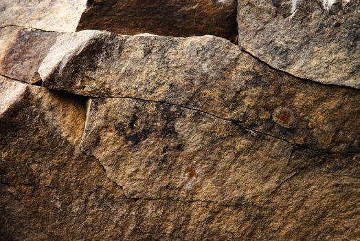 detail of sandstone rock cracks