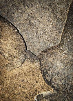 detail crack on sandstone rock