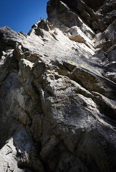 abstract limestone cliffs
