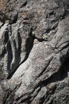shadows on gray sandstone rock