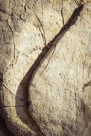 limestone rock with oblique and shadow